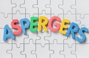 Aspergers Letters on a puzzle background